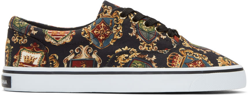 Dolce and Gabbana Multicolor Crest Sneakers