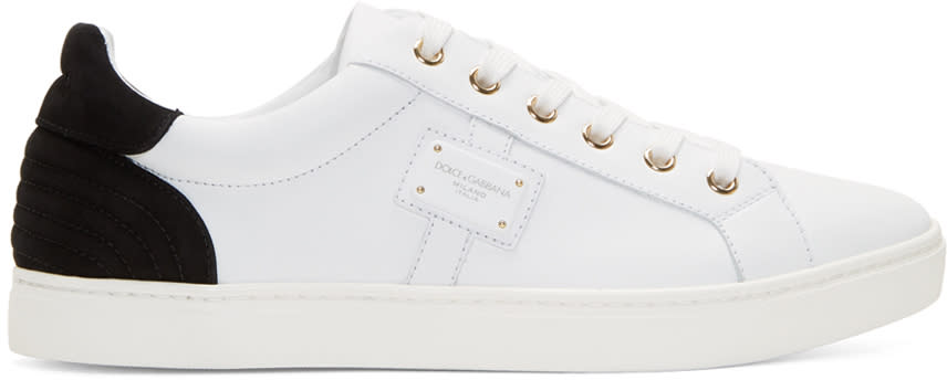 Dolce and Gabbana White Leather Sneakers