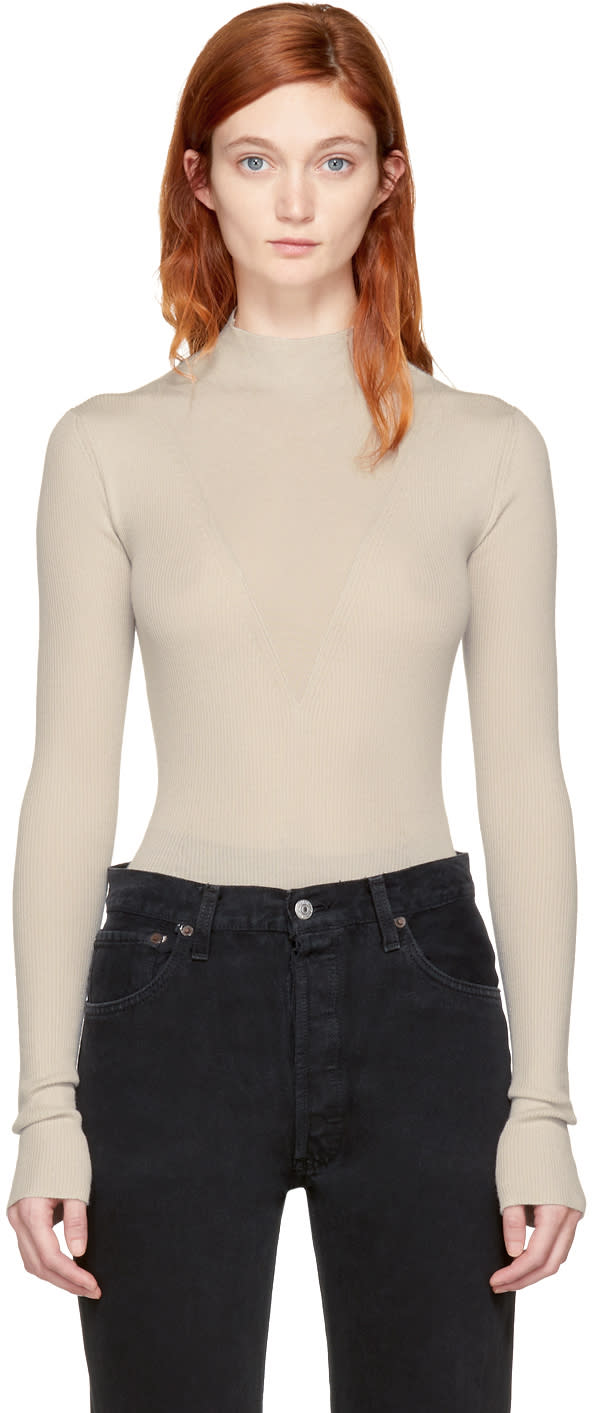 Image of Olivier Theyskens Ivory Kaipur Knit Top