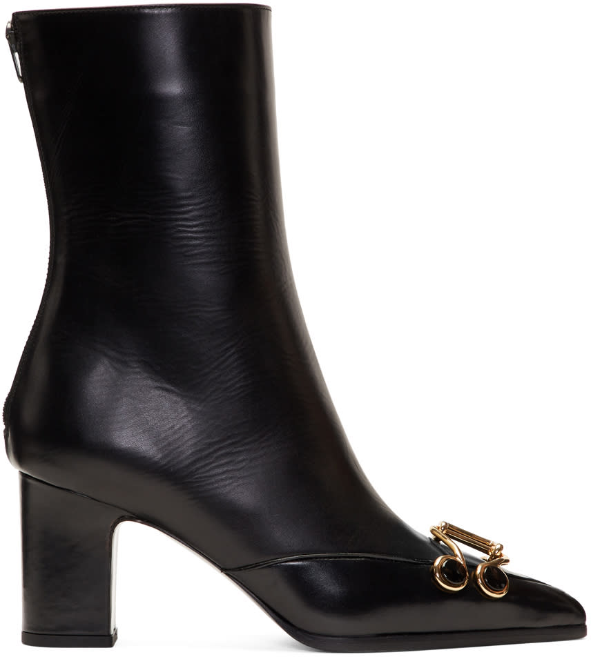 Image of Olivier Theyskens Black Swanson Boots