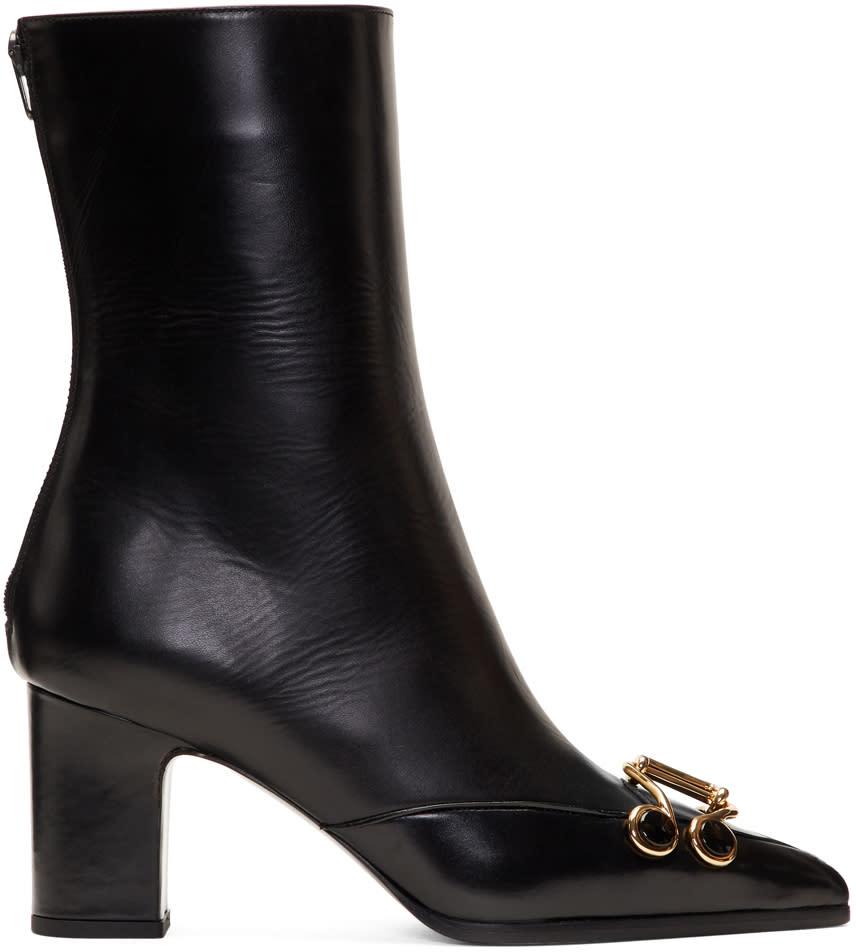 Olivier Theyskens Black Swanson Boots