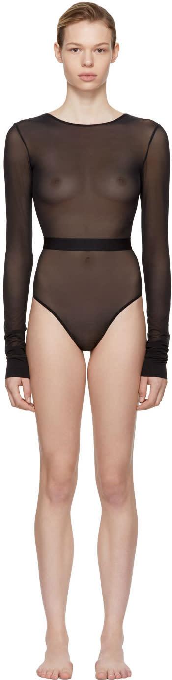 Image of La Fille Do Black Long Sleeve one Dance Bodysuit