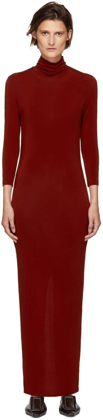 Image of Kwaidan Editions Red Underpinnings Turtleneck Dress