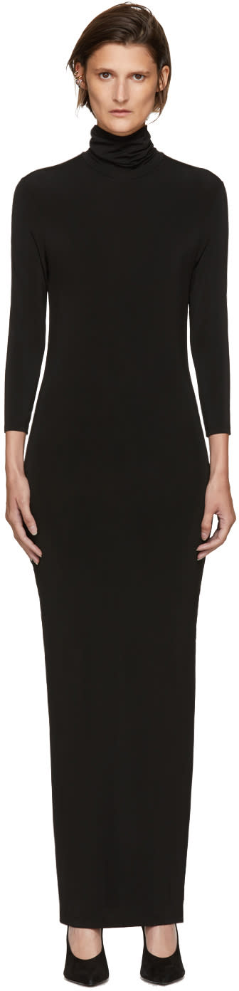 Image of Kwaidan Editions Black Underpinnings Turtleneck Dress