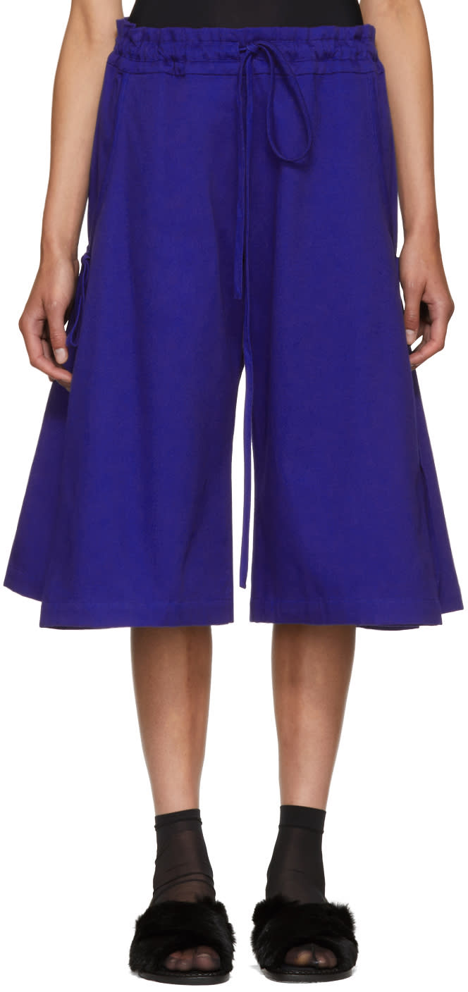 Image of Roberts | Wood Blue Wide-leg Side Tie Trousers