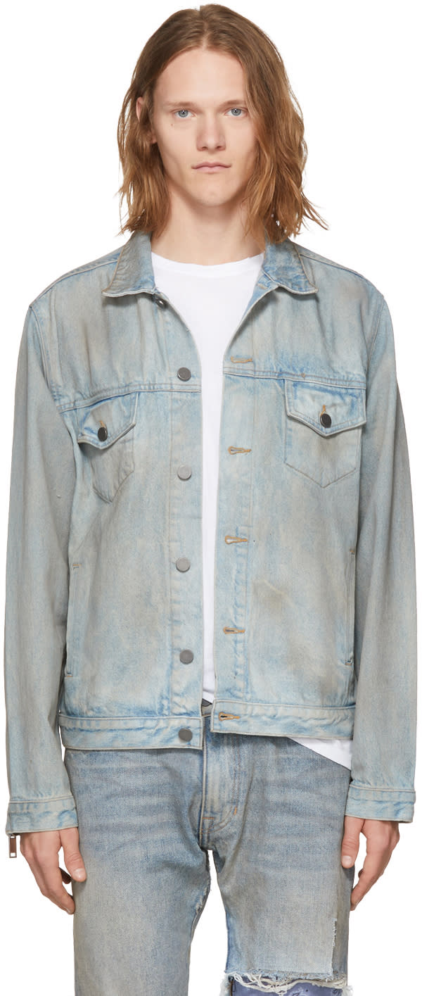 Image of 424 Indigo Denim Trucker Jacket