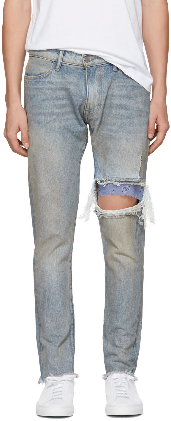 Image of 424 Indigo Repair Jeans