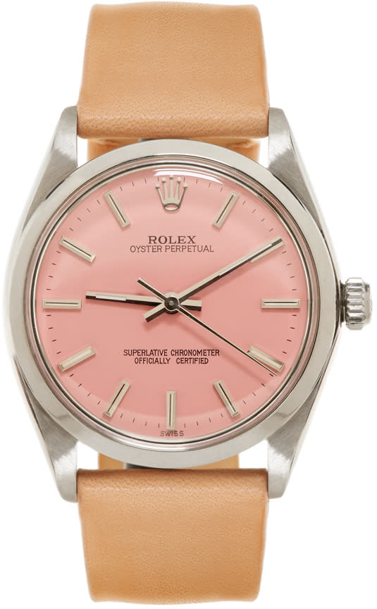 Image of Lacalifornienne Tan Mid Rolex Oyster Perpetual Watch