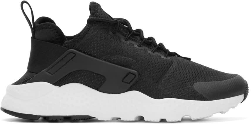 Image of Nike Black Air Huarache Run Ultra Sneakers