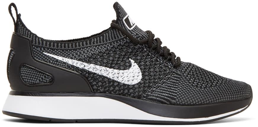 Image of Nike Black Air Zoom Mariah Flyknit Racer Sneakers