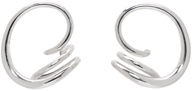 Image of Charlotte Chesnais Silver Round Trip Earrings