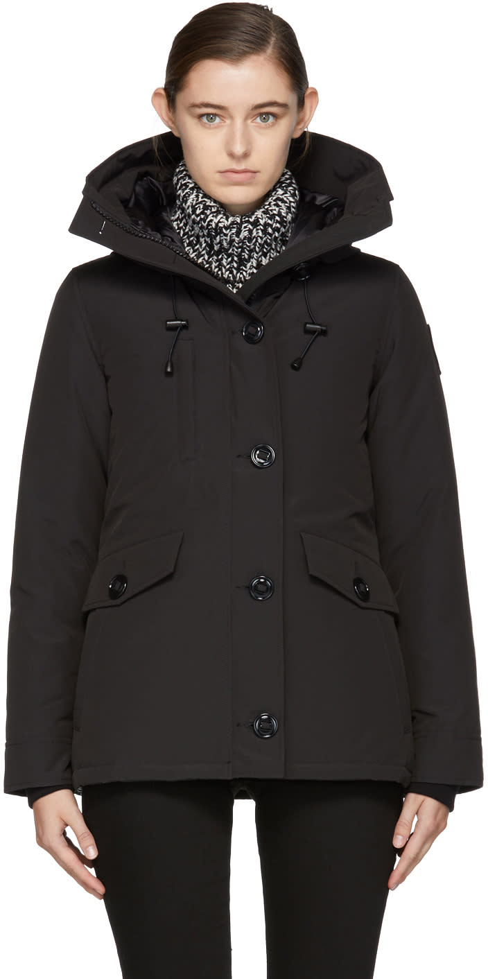 Image of Canada Goose Black Down Black Label Rideau Coat