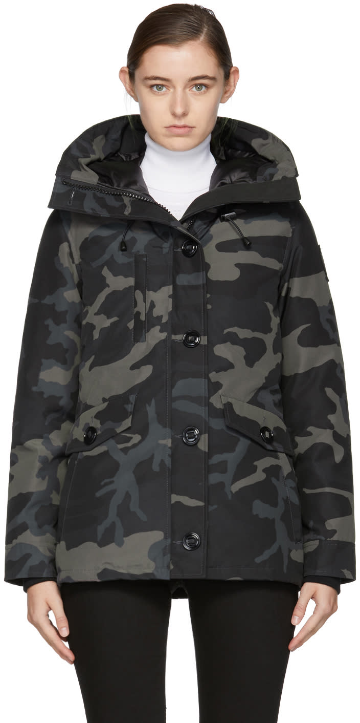 Image of Canada Goose Black Camo Down Black Label Rideau Coat
