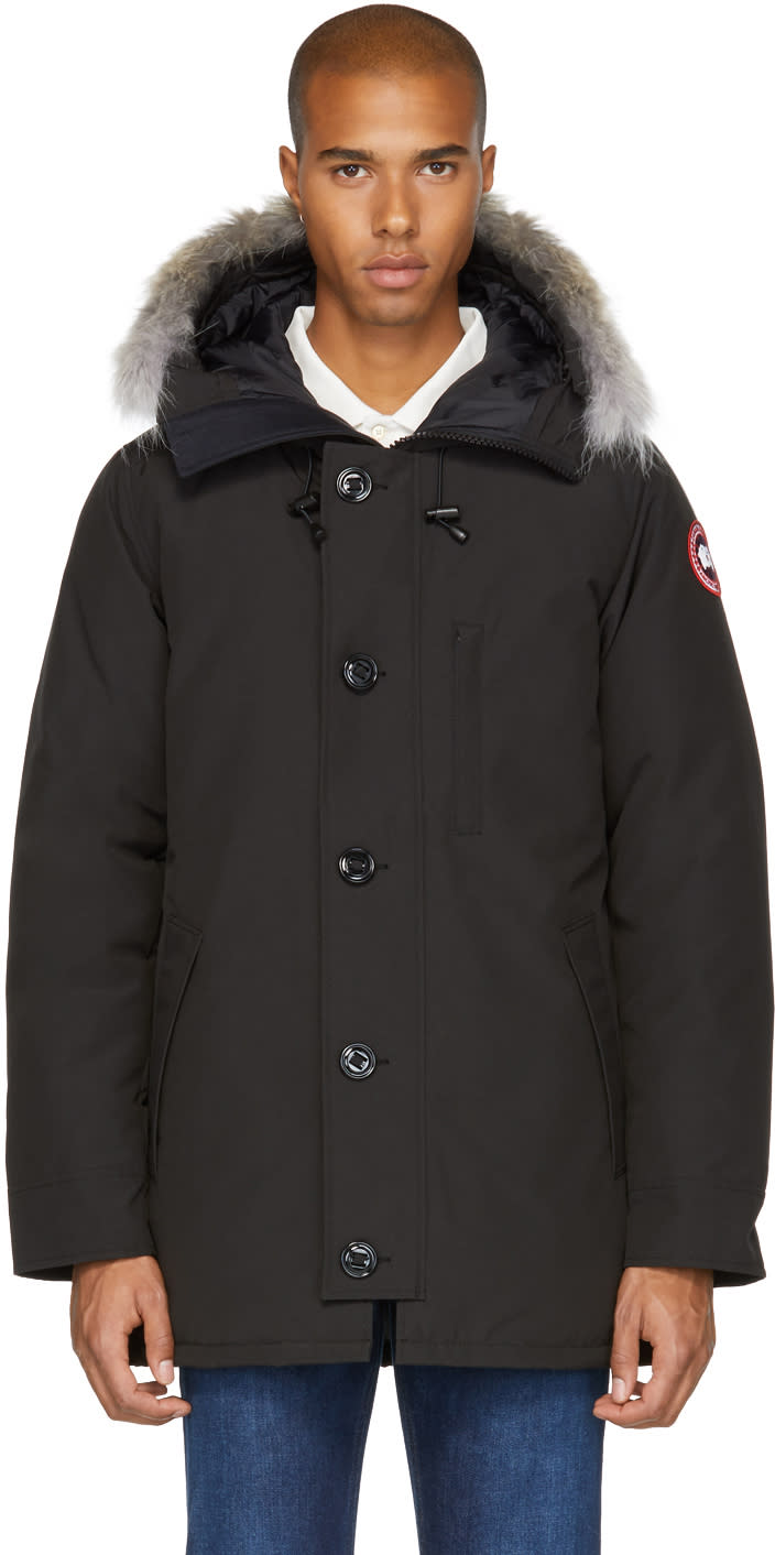 Canada Goose Black Down and Fur Chateau Parka