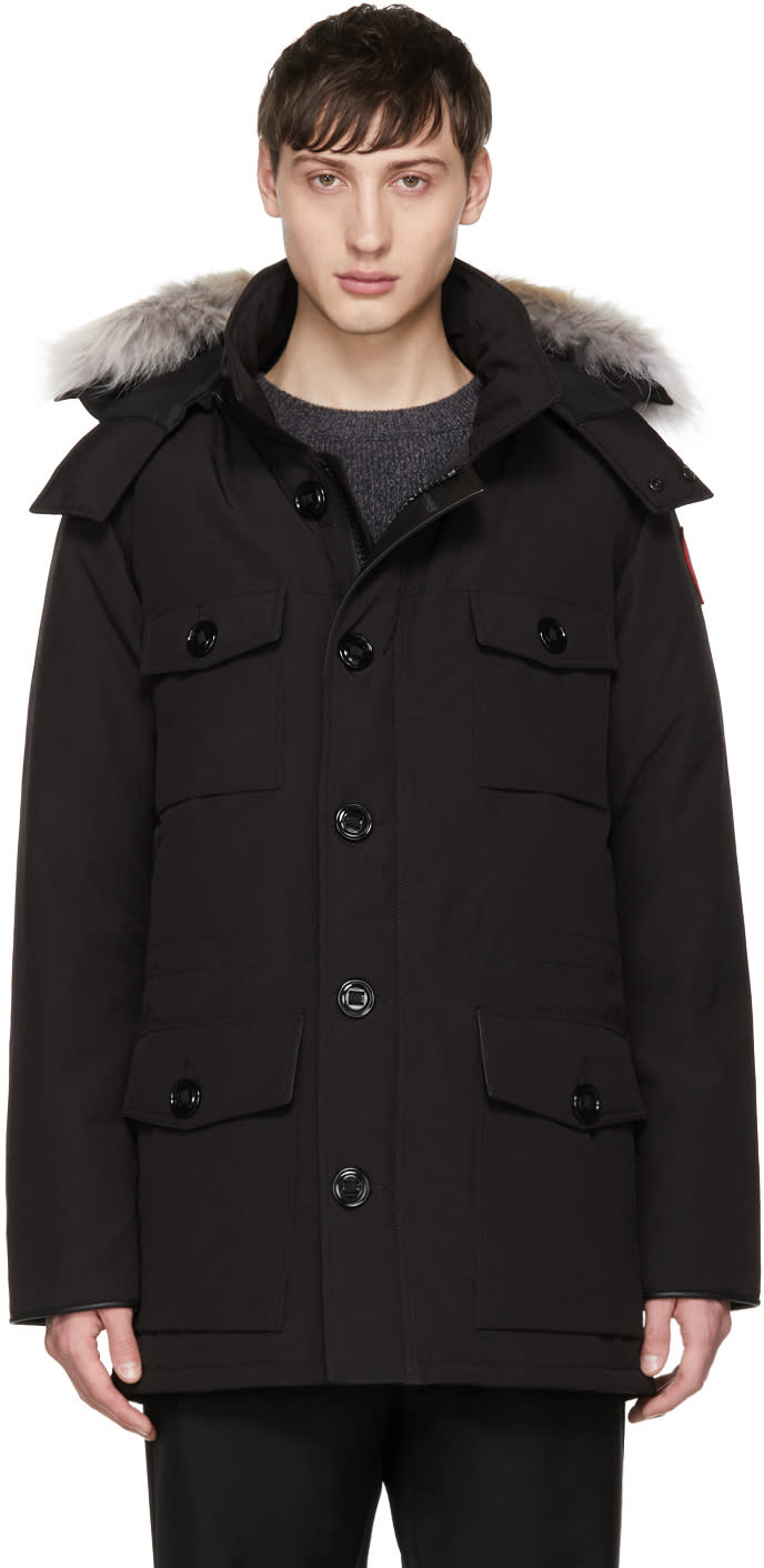 Image of Canada Goose Black Down and Fur Banff Parka