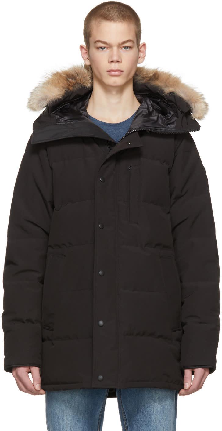 Canada Goose Black black Label Down and Fur Carson Parka