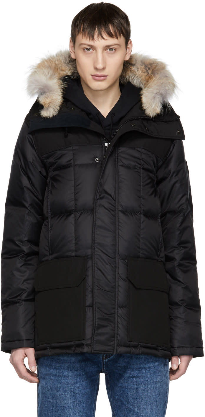 Image of Canada Goose Black black Label Down and Fur Callaghan Parka