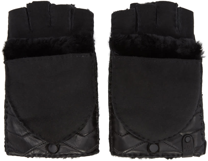 Image of Mackage Black Convertible Chukka Mittens