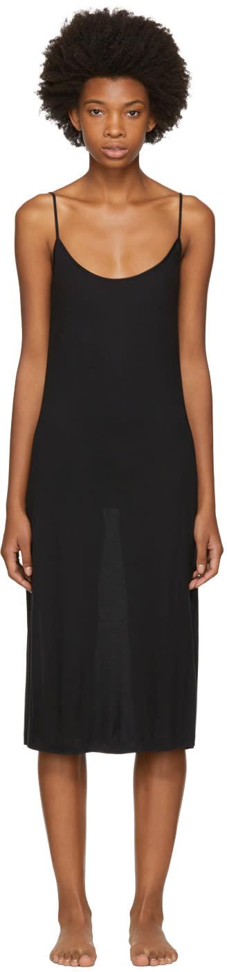 Image of Kiki De Montparnasse Black Jersey Slip Dress