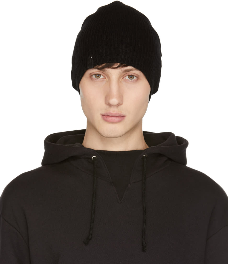 Image of Mackage Black Cashmere Aaron Beanie