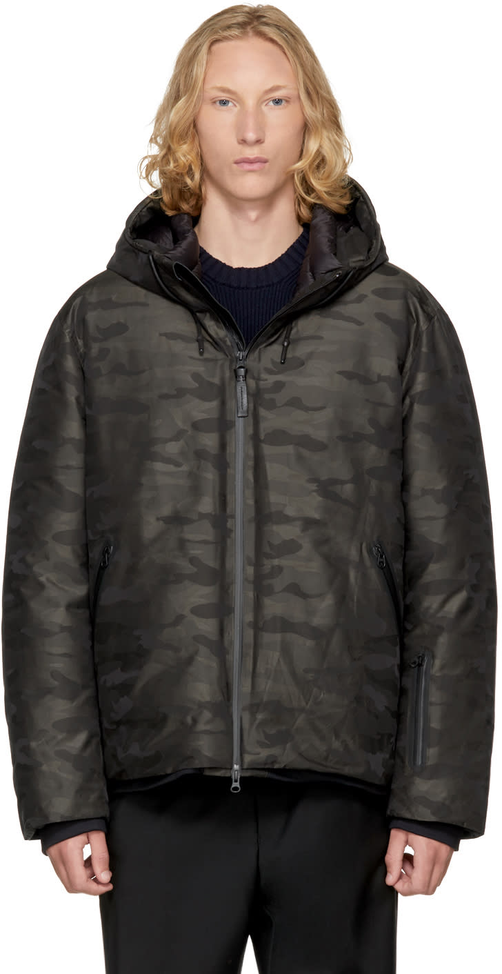 Image of Mackage Black Camo Down Isidro Jacket