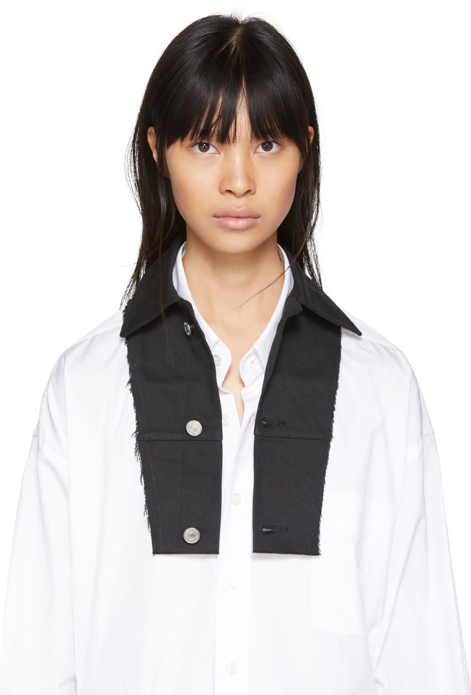 Image of Ottolinger Black Denim Shirt Collar