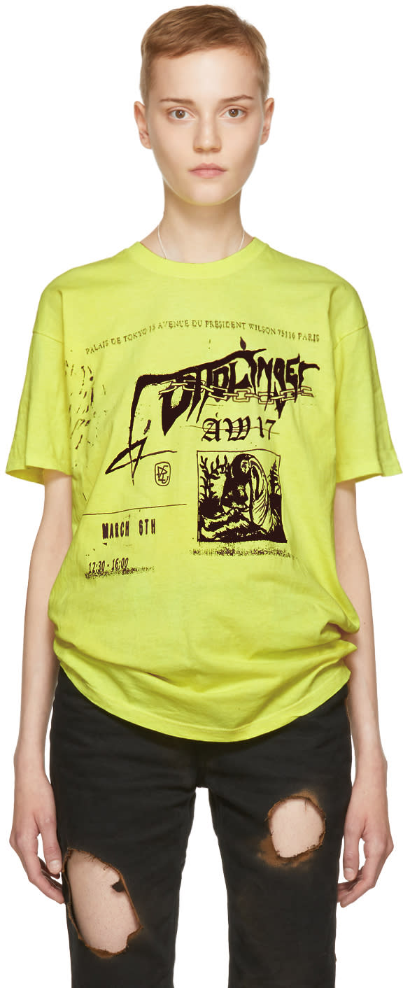 Image of Ottolinger Yellow Printed T-shirt
