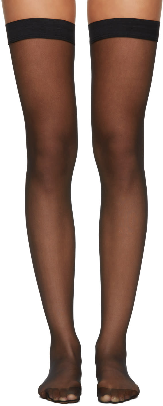 Image of Wolford Black Individual 10 Stay-ups