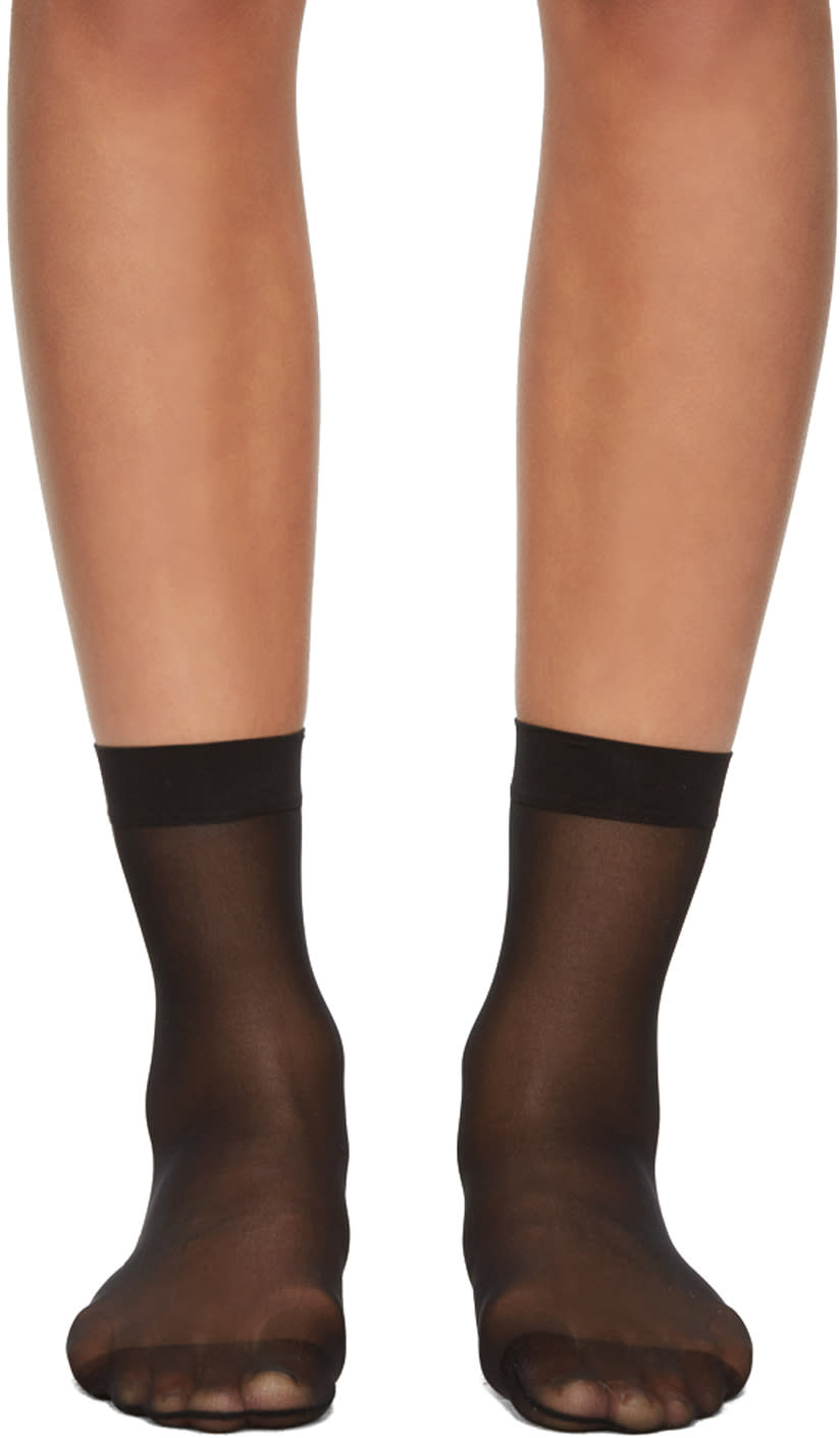 Image of Wolford Black Individual 10 Socks