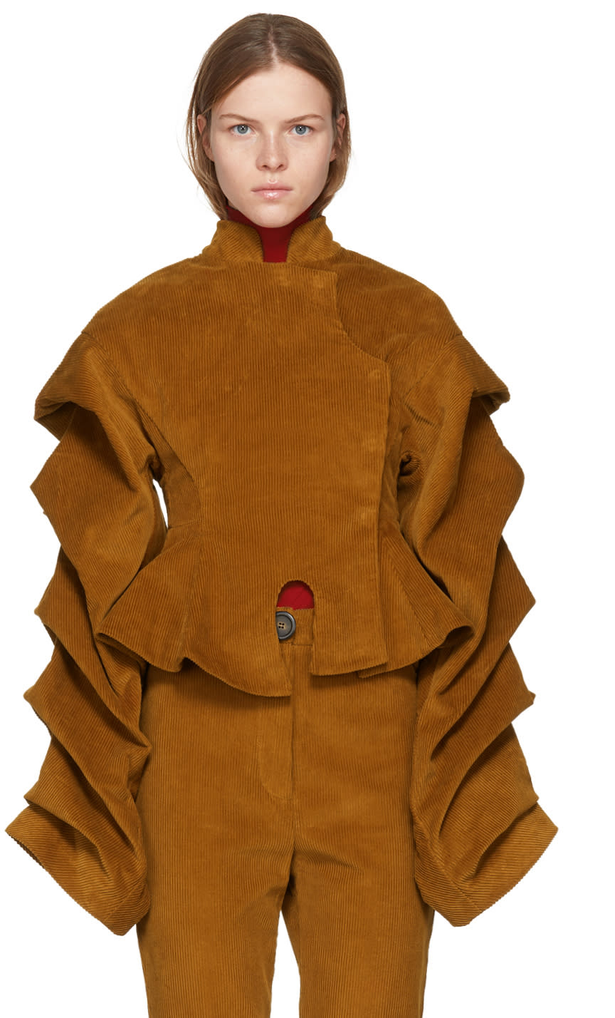 Image of A.w.a.k.e. Tan Corduroy octopus Dressed As Don Quixote Jacket