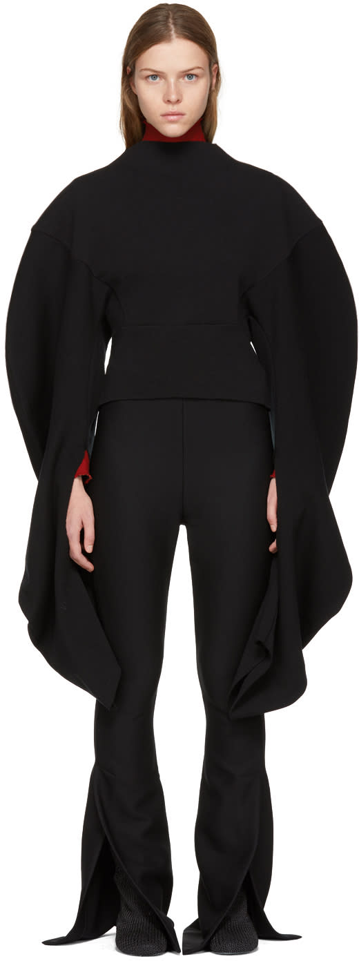Image of A.w.a.k.e. Black Lobster Claw Blouse