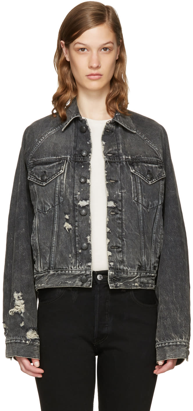 Image of R13 Black Denim Trucker Jacket