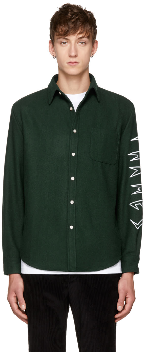 Image of Thames Green Sp Logo Sleeve Shirt