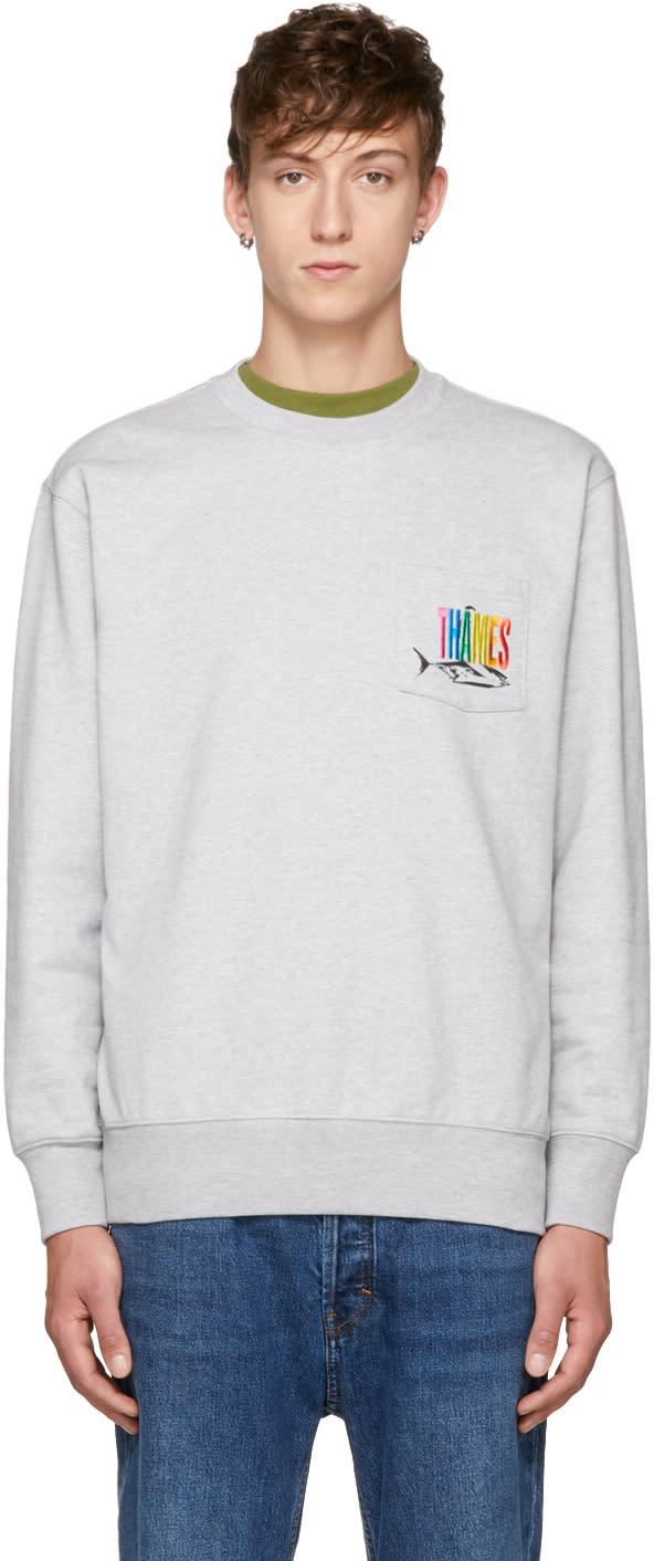 Image of Thames Grey Gildford Crew Sweatshirt