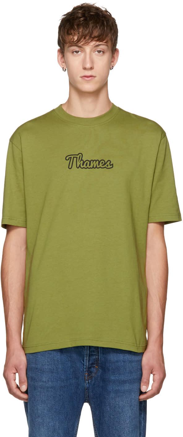 Image of Thames Green Logo T-shirt