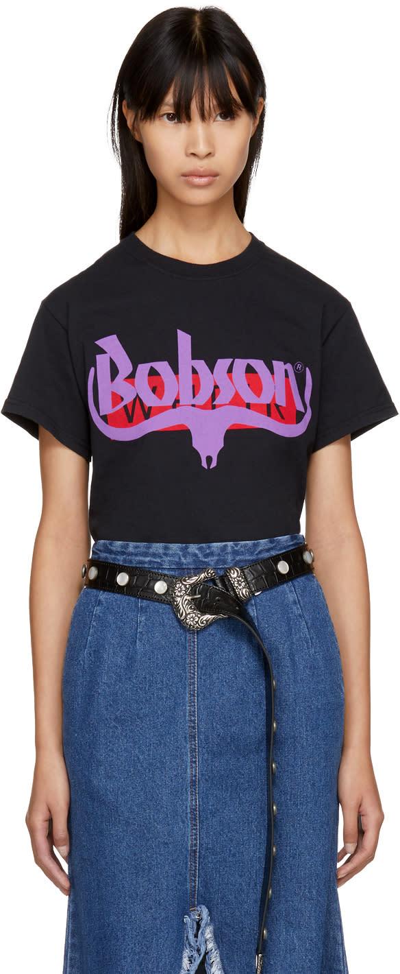 Image of Wheir Bobson Black Logo T-shirt