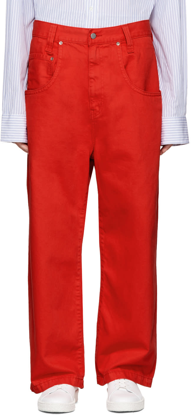 Image of Wheir Bobson Red Big Details Jeans