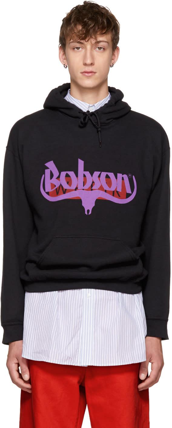 Image of Wheir Bobson Black Logo Hoodie