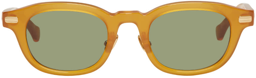Image of Native Sons Tan Clyde Sunglasses