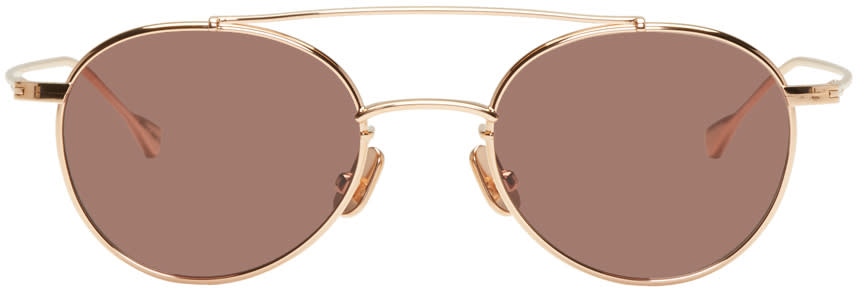 Image of Native Sons Rose Gold Mr. Mojo Sunglasses