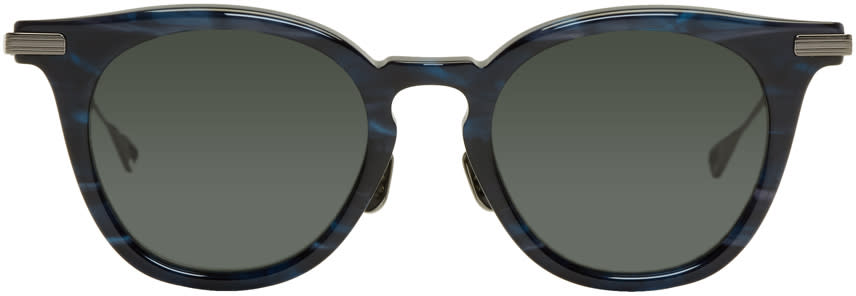 Image of Native Sons Indigo and Black Tortoiseshell Siegel Sunglasses
