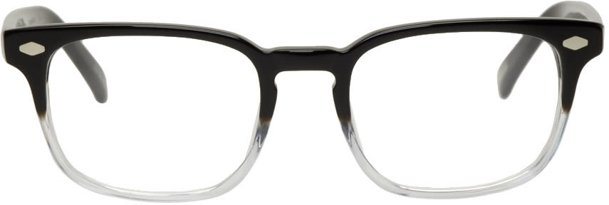 Image of Raen Transparent and Black Doheny Glasses