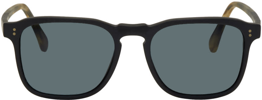 Image of Raen Black and Tortoiseshell Wiley Sunglasses