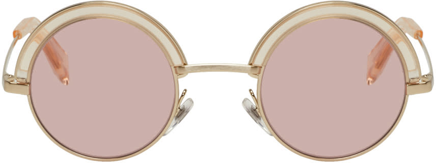 Image of Oliver Peoples Pour Alain Mikli Gold and Pink 4003n Sunglasses
