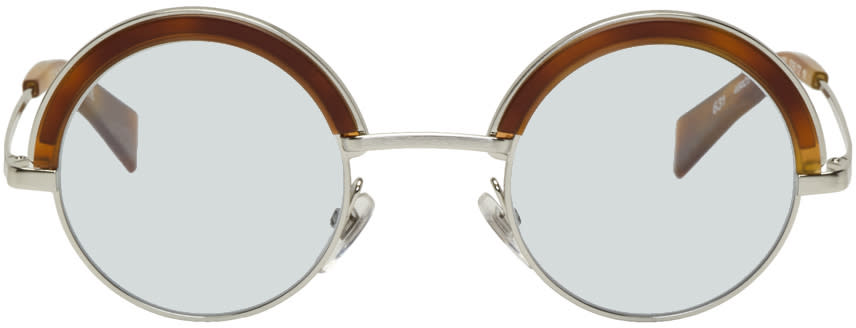 Image of Oliver Peoples Pour Alain Mikli Silver and Blue 4003n Sunglasses