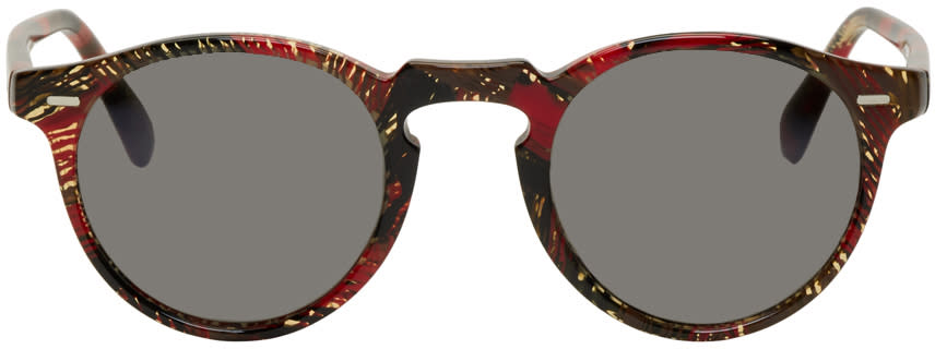 Image of Oliver Peoples Pour Alain Mikli Red Gregory Peck Sunglasses