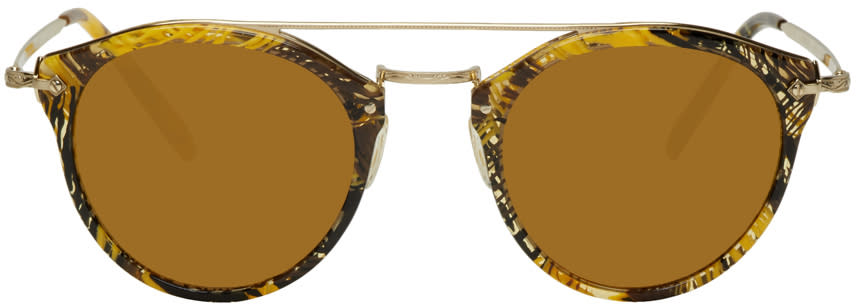 Image of Oliver Peoples Pour Alain Mikli Gold Remick Sunglasses