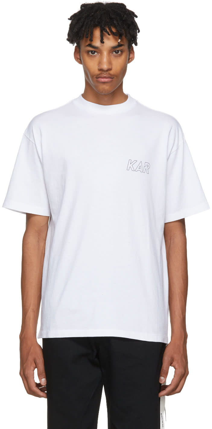 Image of Kar - Lart De Lautomobile White kar Logo T-shirt