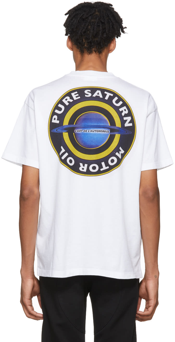 Image of Kar - Lart De Lautomobile White Pure Saturn T-shirt