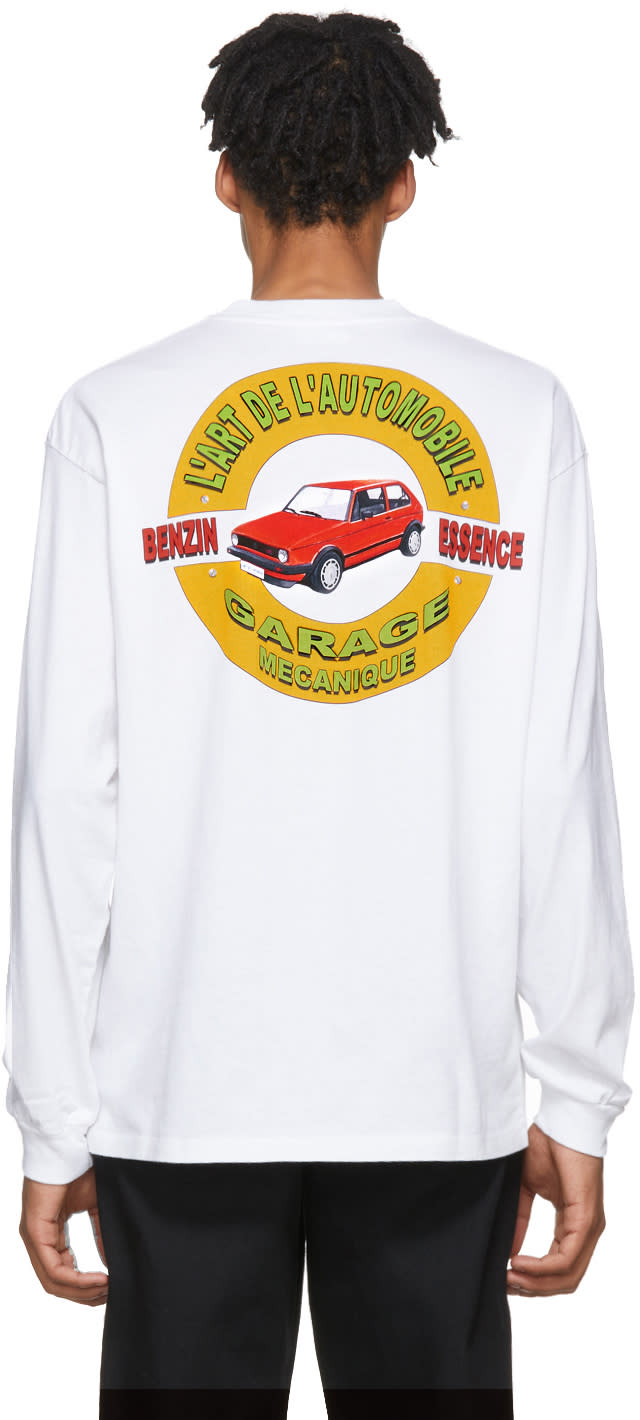Image of Kar - Lart De Lautomobile White Long Sleeve Classic Garage T-shirt